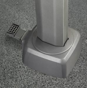 Zweefparasol Challenger T²  300x300cm light grey