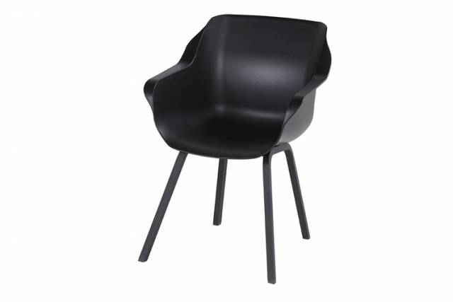 Diningstoel Sophie Element Armchair Carbon Black