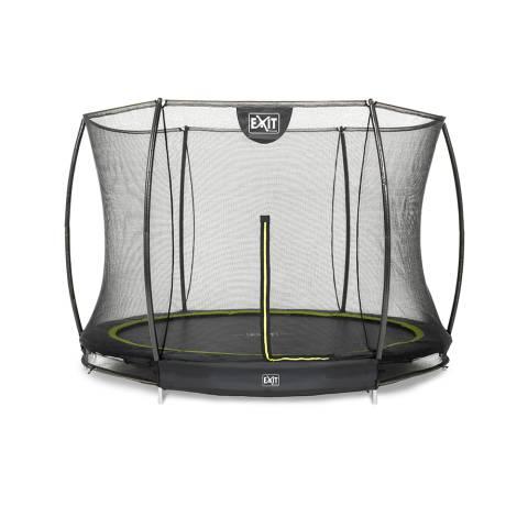 Silhouette inground trampoline ø244cm met veiligheidsnet - zwart
