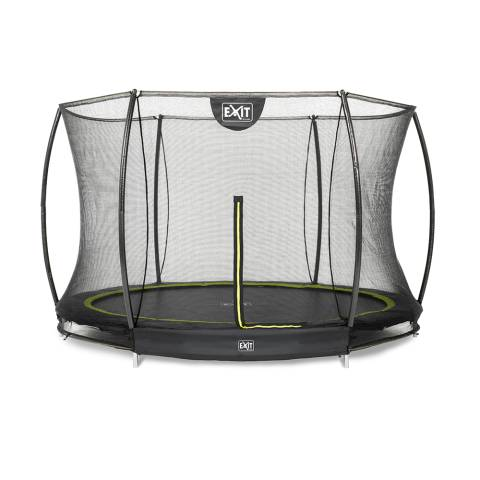 Silhouette inground trampoline ø305cm met veiligheidsnet - zwart