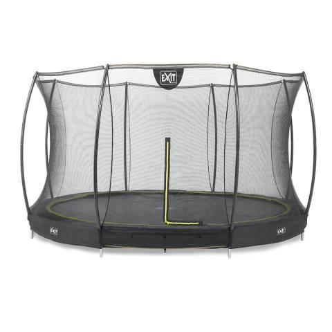 Silhouette inground trampoline ø366cm met veiligheidsnet - zwart