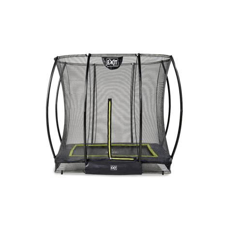 Silhouette inground trampoline 153x214cm met veiligheidsnet - zwart