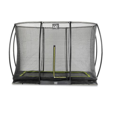 Silhouette inground trampoline 214x305cm met veiligheidsnet - zwart