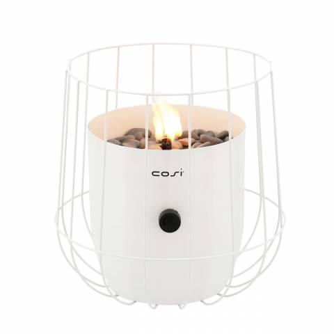 Gas lantaarn Cosiscoop basket white