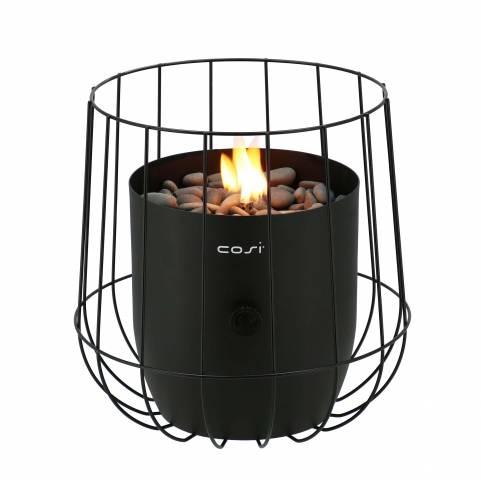 Gas lantaarn Cosiscoop basket black